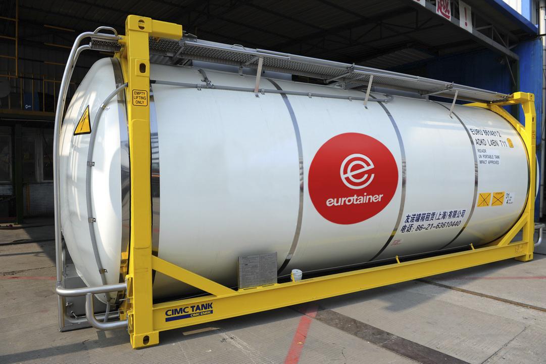 Eurotainer 管理着一支在全球拥有超过 29000 个罐式集装箱的车队。