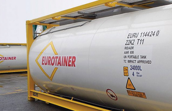 Eurotainer gère une flotte mondiale de plus de 29000 conteneurs citernes
