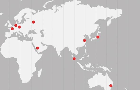 Eurotainer vous accompagne à travers le monde