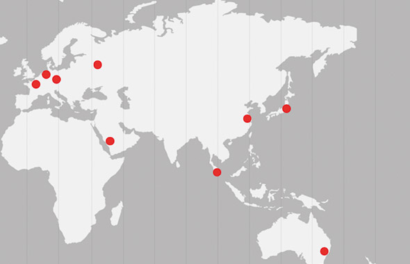 Eurotainer 的运营范围遍布世界各地