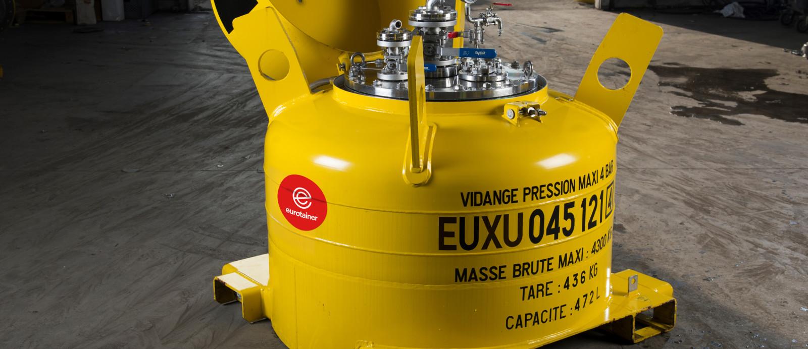 Tankcontainer mit der Kapazität weniger als 10.000 Liter  Für Gas- und Flüssigprodukte